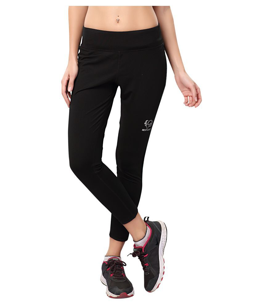 Restless Black Lycra Crop RS C P 17C