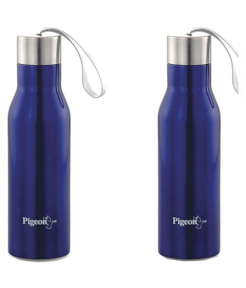 Pigeon Glamour Multi Color 600 ml Water Bottle Set of 2 ...