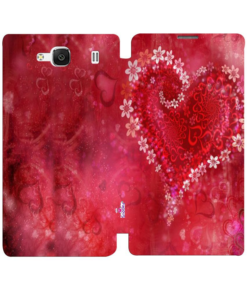 Xiaomi Redmi 2 Flip Cover by Snooky - Red