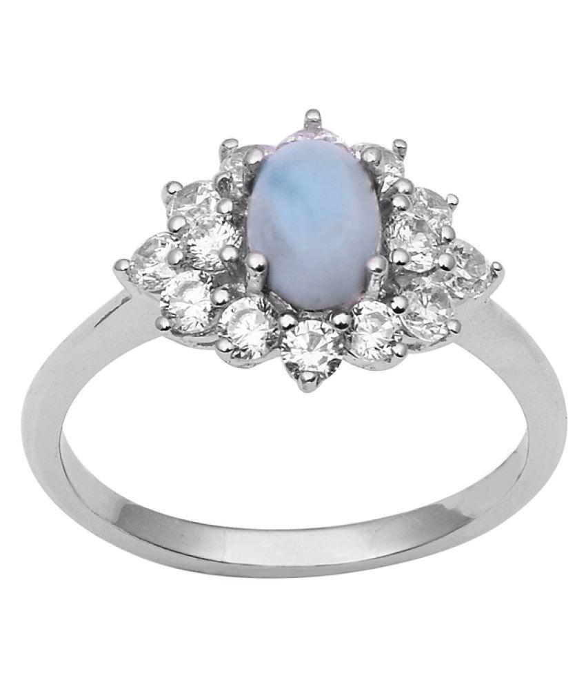 Shine Jewel 92.5 Silver Larimar Ring