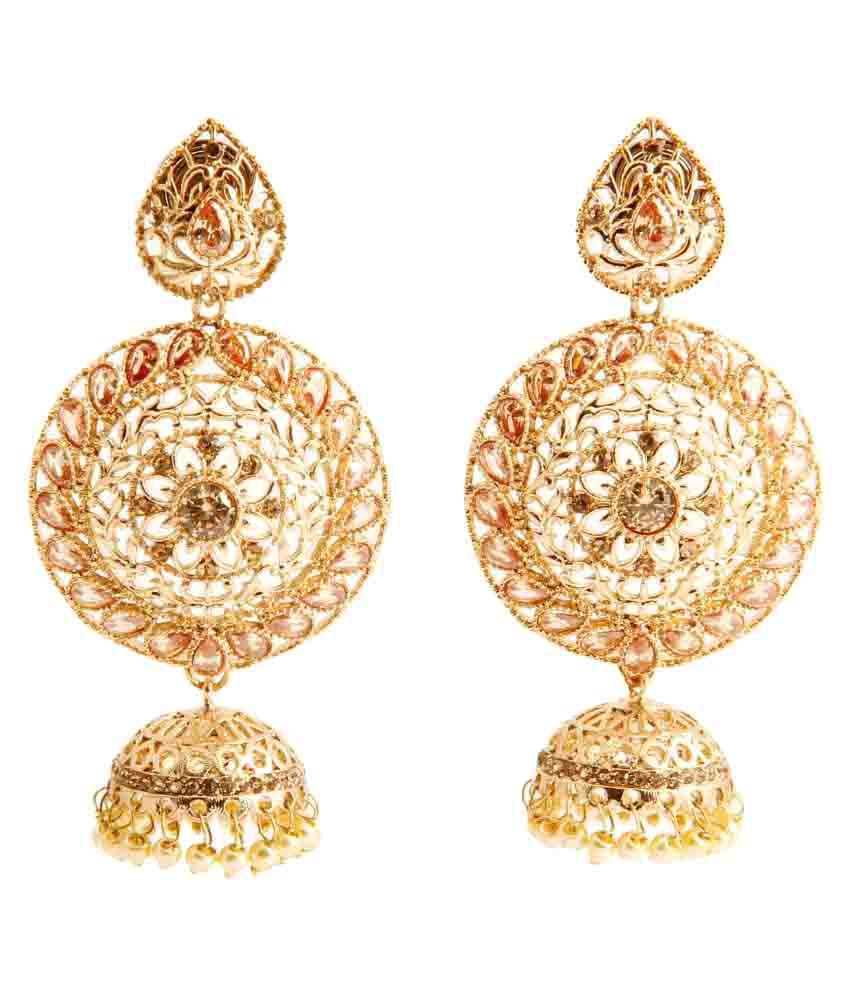 Malifionna Traditional Designer Golden Jhumkis