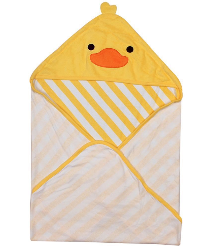 Ole Baby Yellow Cotton Bath Towels
