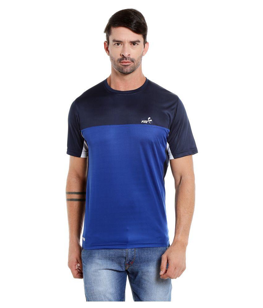 Fitz Navy Round T-Shirt