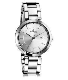 Titan Analogue White Dial Women Watch - 2480SM07
