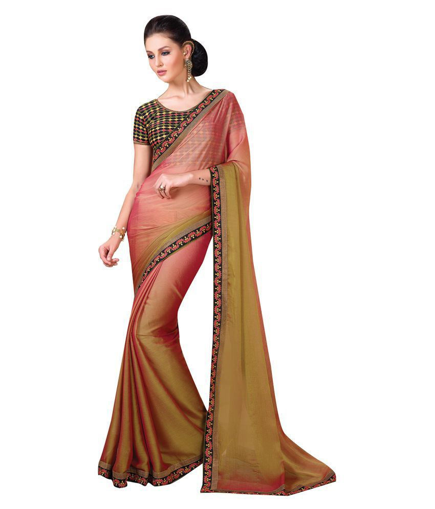 Shaily Retails Multicoloured Chiffon Saree