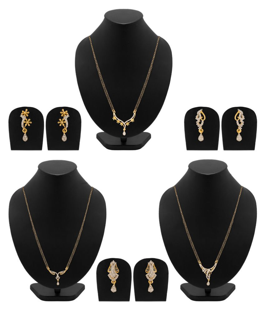 NIA Golden Mangalsutra Set Combo Pack of 3