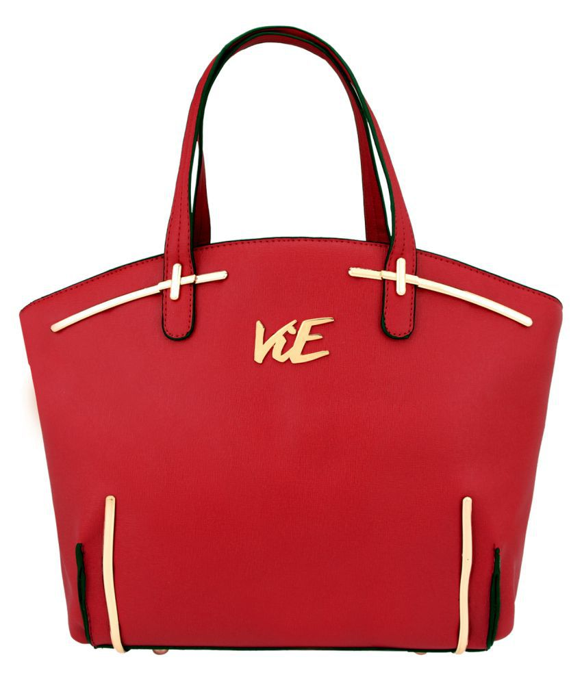 Vie Maroon Artificial Leather Shoulder Bag