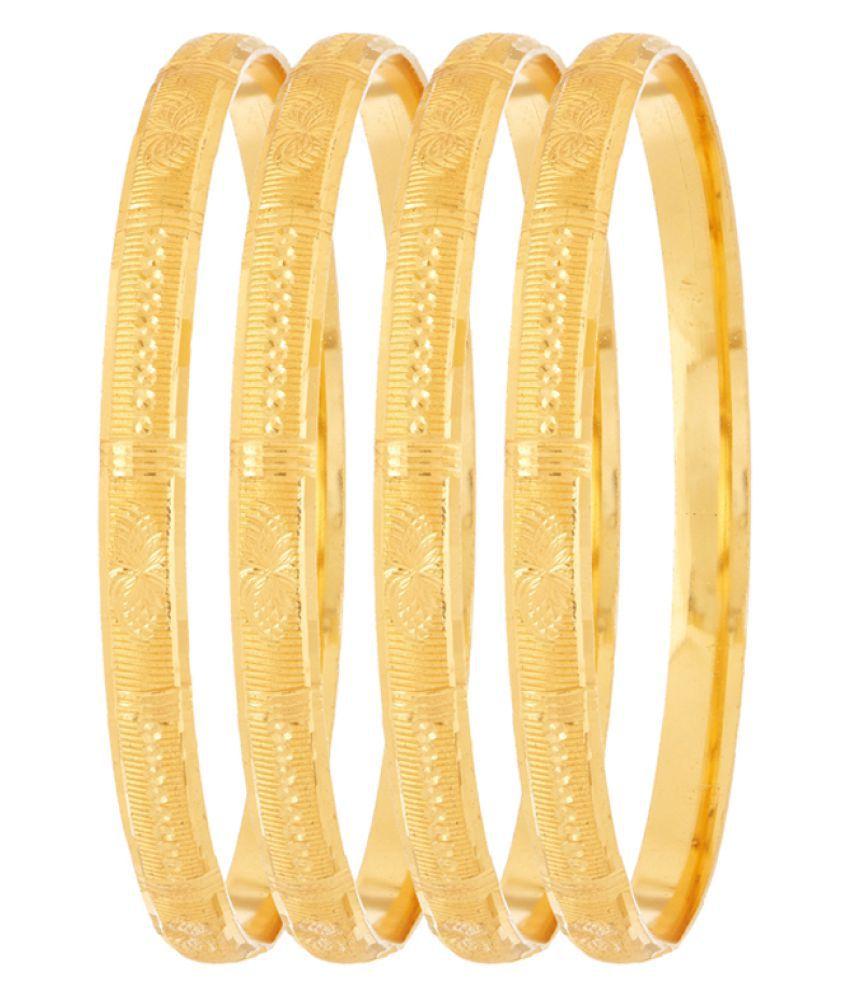 Sapna FX Gold Plated Bangle - 4 Pieces