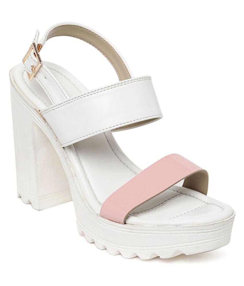 Bruno Manetti White Block Heels