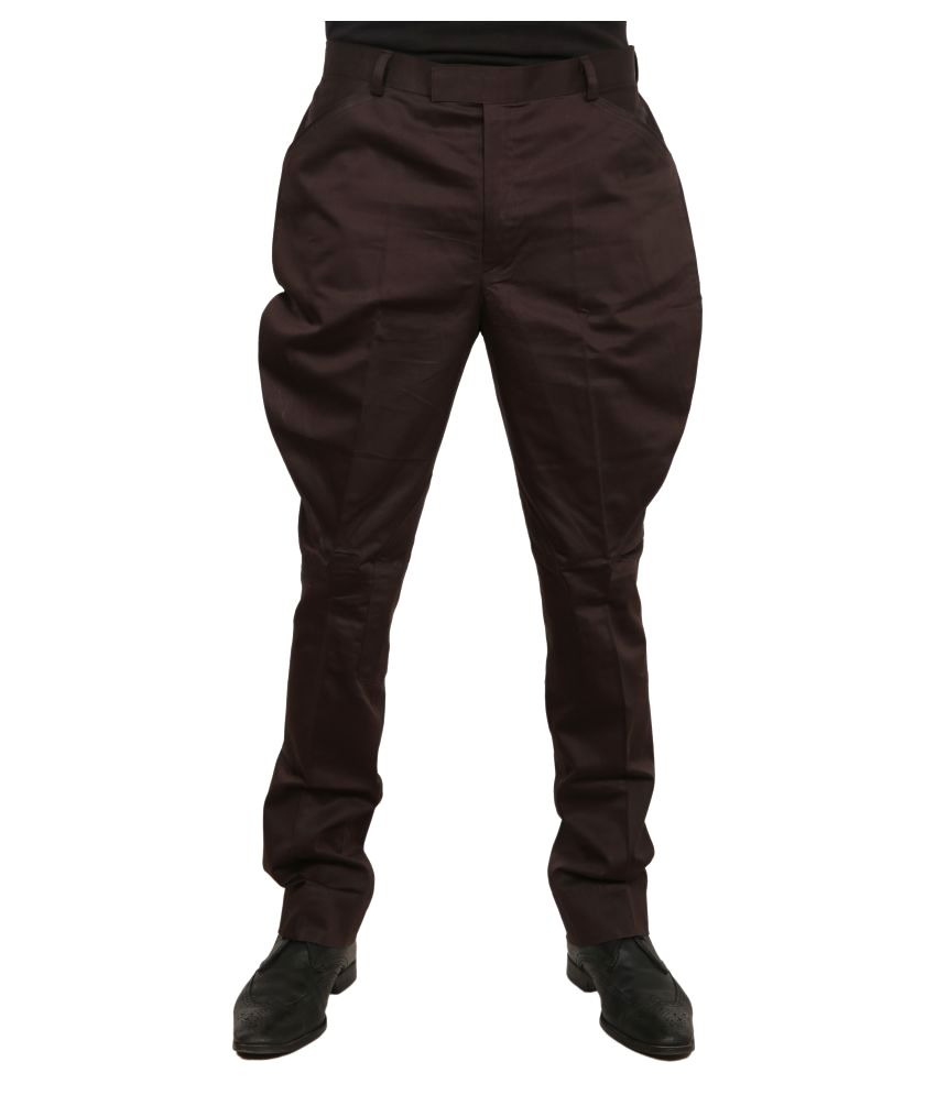 Price available in white or black for about 2399 for all four - Horsler Dark Brown Slim Pleated Jodhpuri Pants Available At Snapdeal For Rs 2399