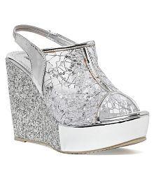 Bruno Manetti Silver Wedges Heels