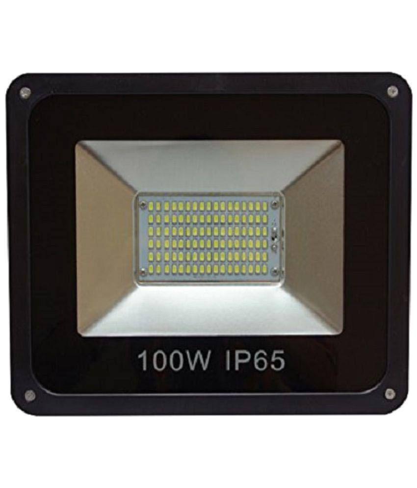 Led Flood Light India: Craftsells 100 IP65 Led Flood Light Cool Day Light Outdoor