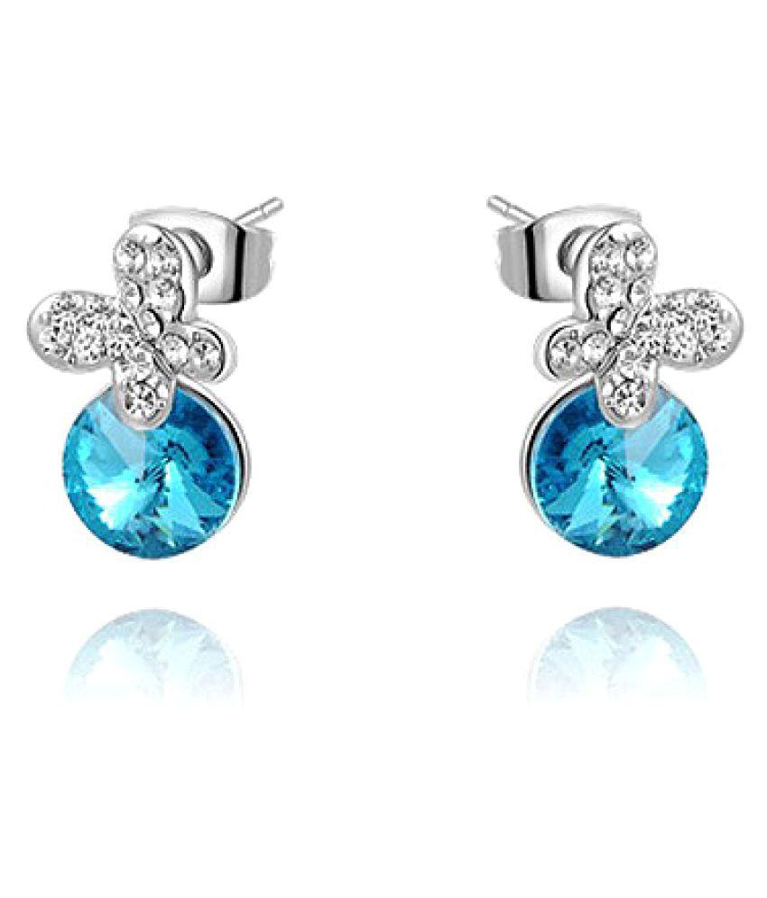Silver Shoppee Multicolour Stud Earrings