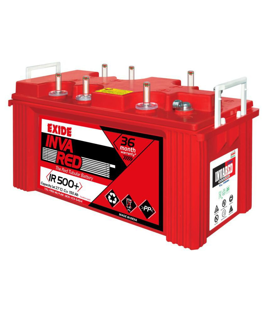 exide 150 exide inva red 500 plus 150ah battery ah battery. Black Bedroom Furniture Sets. Home Design Ideas