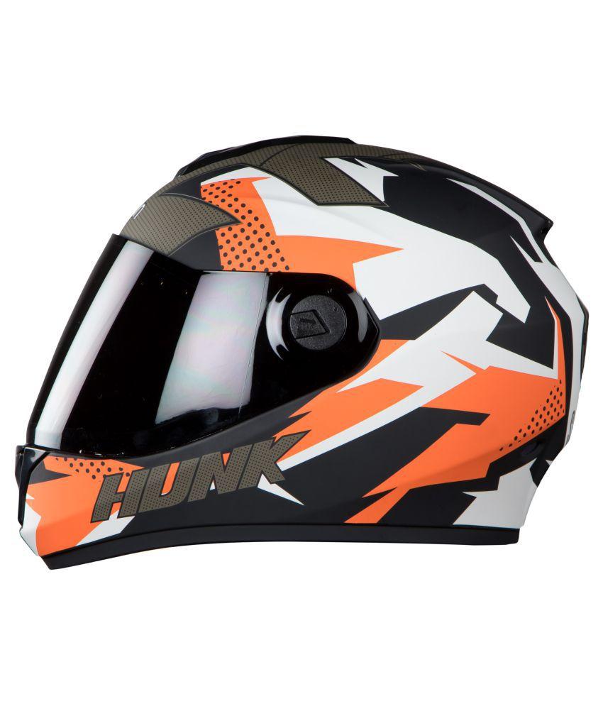 c06b65e8 Steelbird Vision Hunk - Full Face Helmet Black M: Buy Steelbird ...