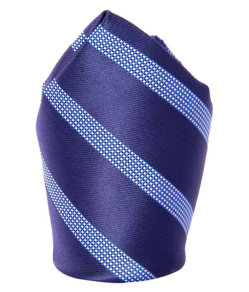 Tossido Blue Woven Pocket Square