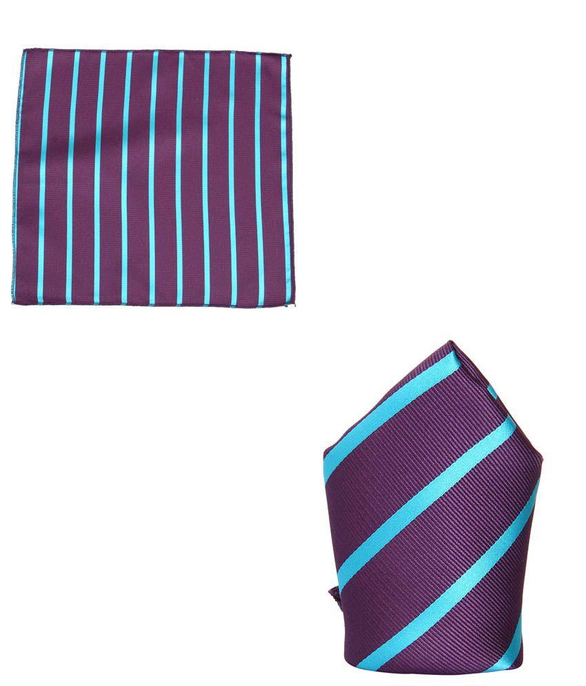 Tossido Purple Woven Pocket Square