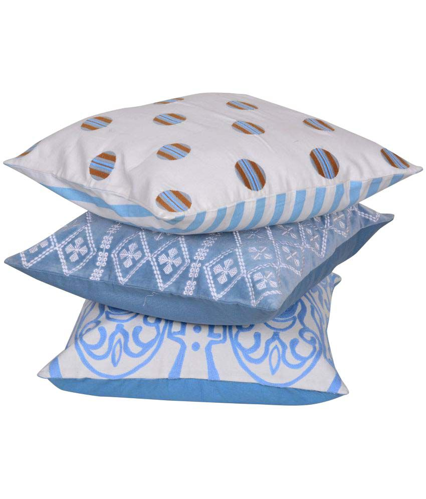 Reme Set of 3 Cotton Cushion Covers 45X45 cm (18X18)