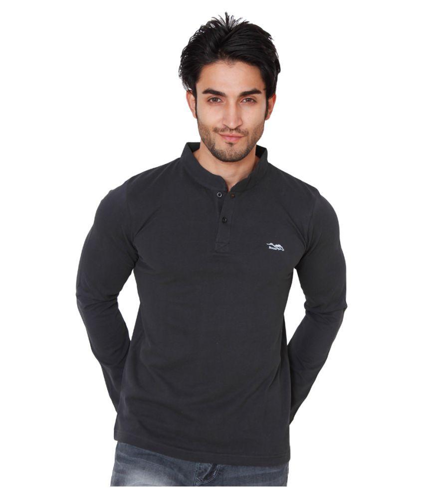 Bonzer Black Henley T-Shirt
