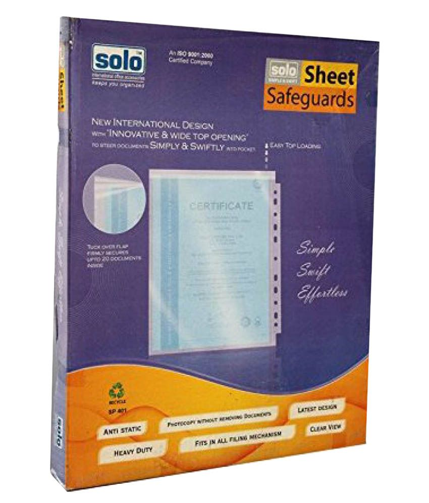 Solo SP 401 Sheet Protect (Safeguard) (Pack of 100)