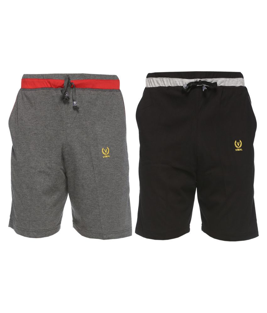 Vimal Jonney Multi Shorts Pack Of 2