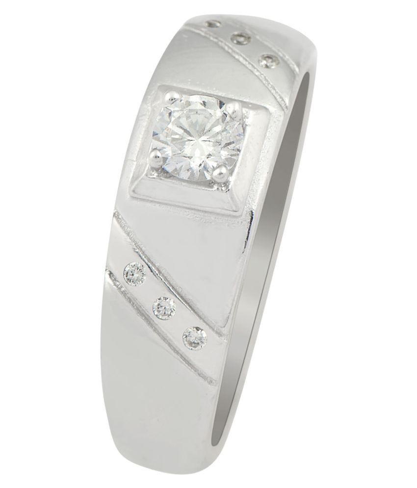 Sogani Jewellers 92.5 Silver Cubic zirconia Ring