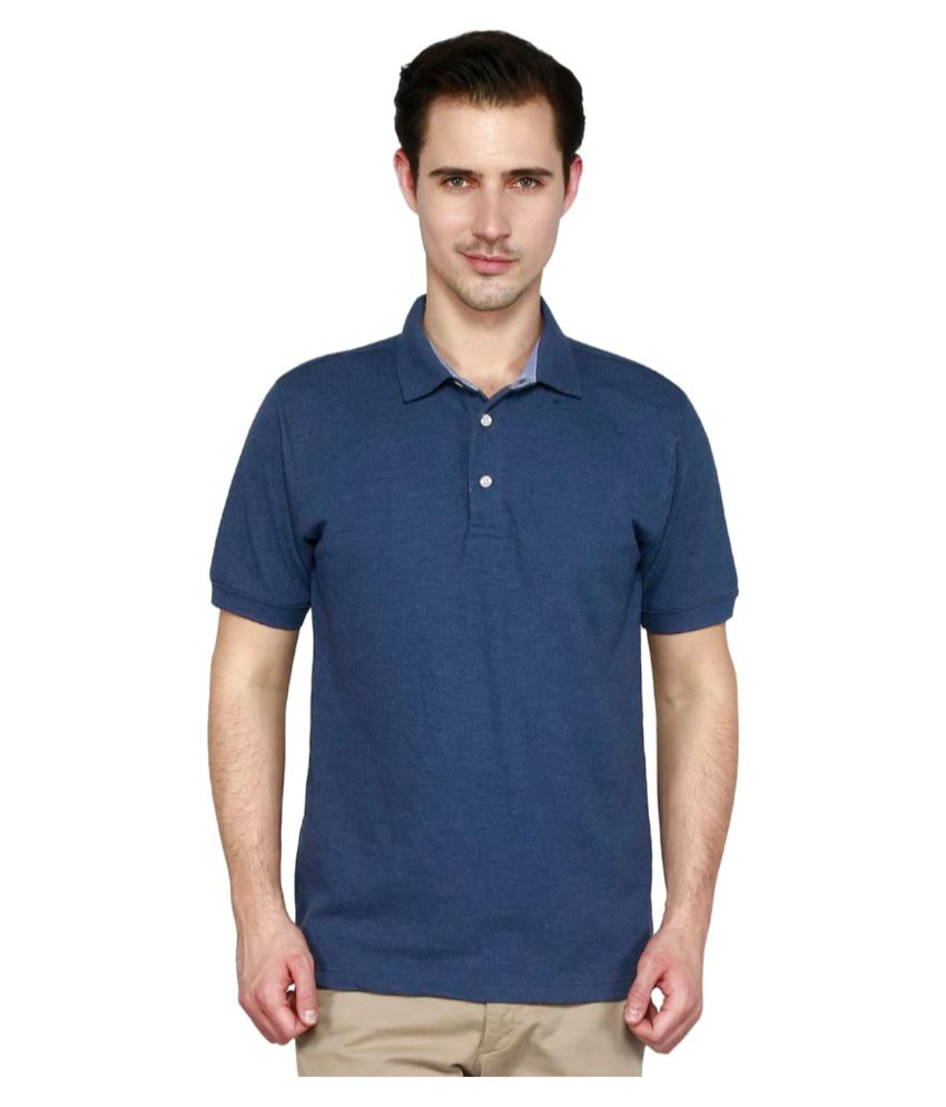 T10 Sports Blue Cotton Polo T-Shirt Single Pack