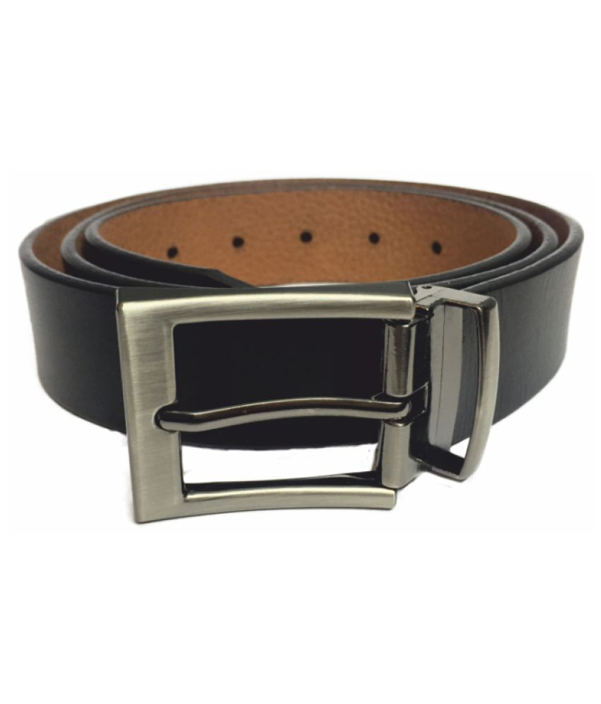 His & Hers Black Leather Formal Belts