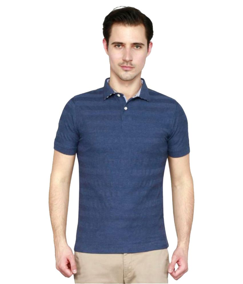 T10 Sports Blue Polyester Polo T-Shirt Single Pack
