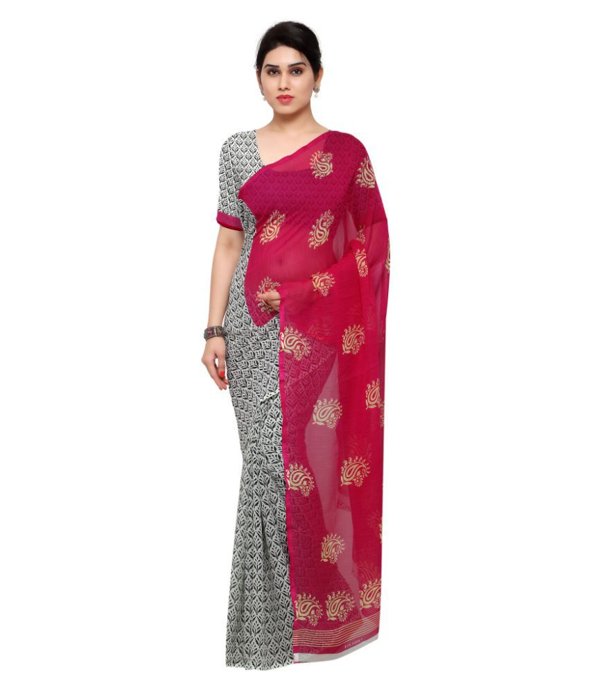 Aagaman Fashions Multicoloured Georgette Saree