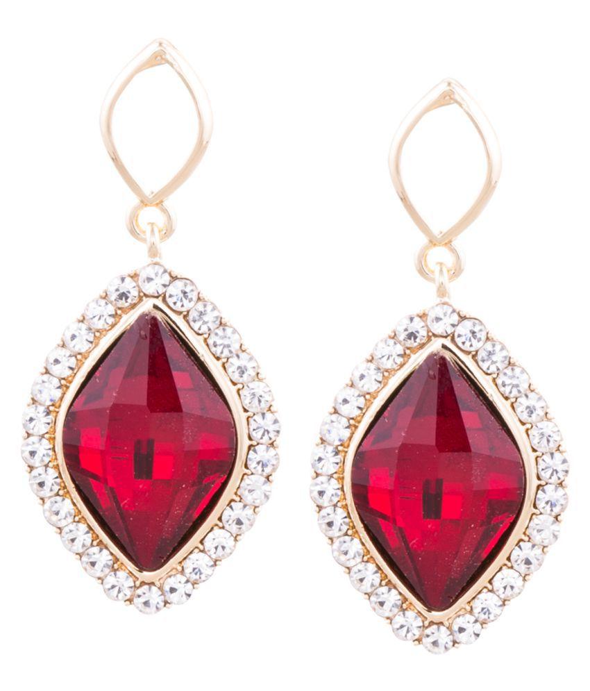 Globus Red Hanging Earrings