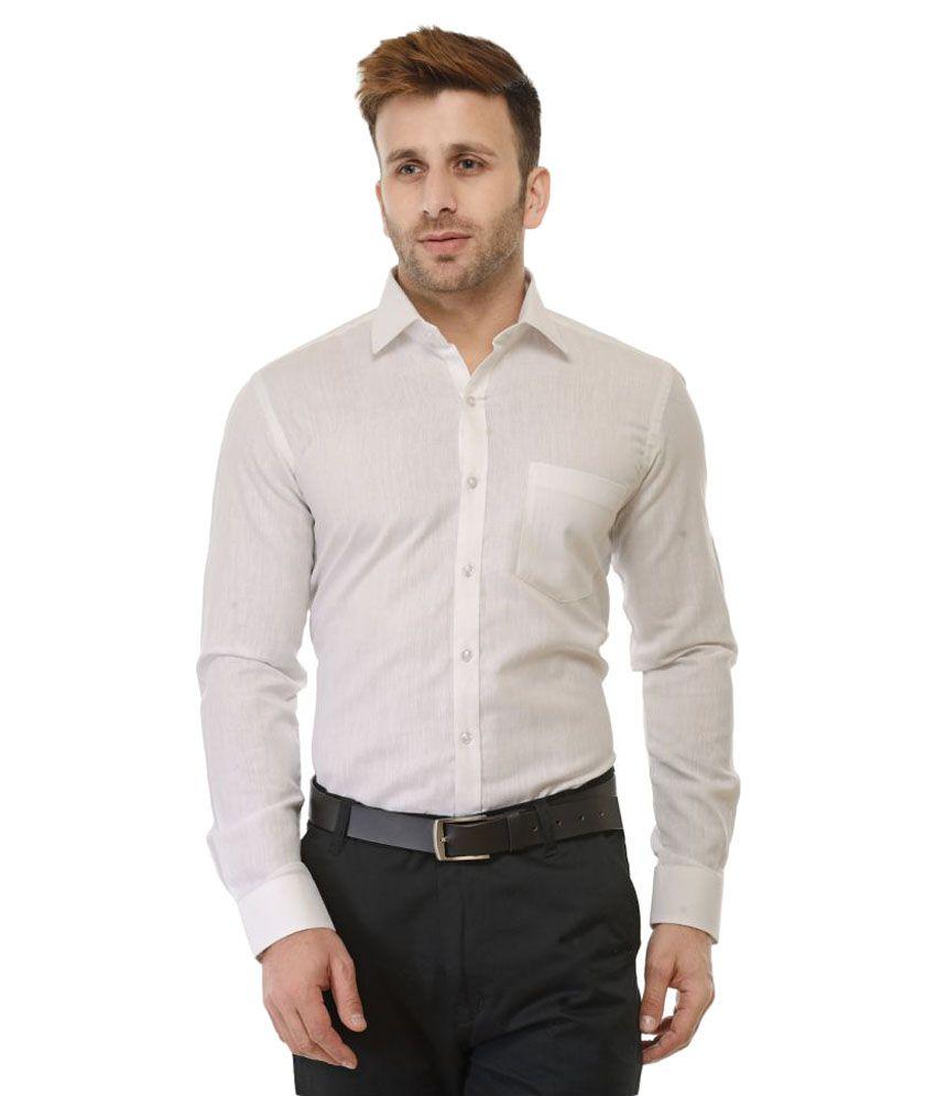 RG Designers White Formal Slim Fit Shirt
