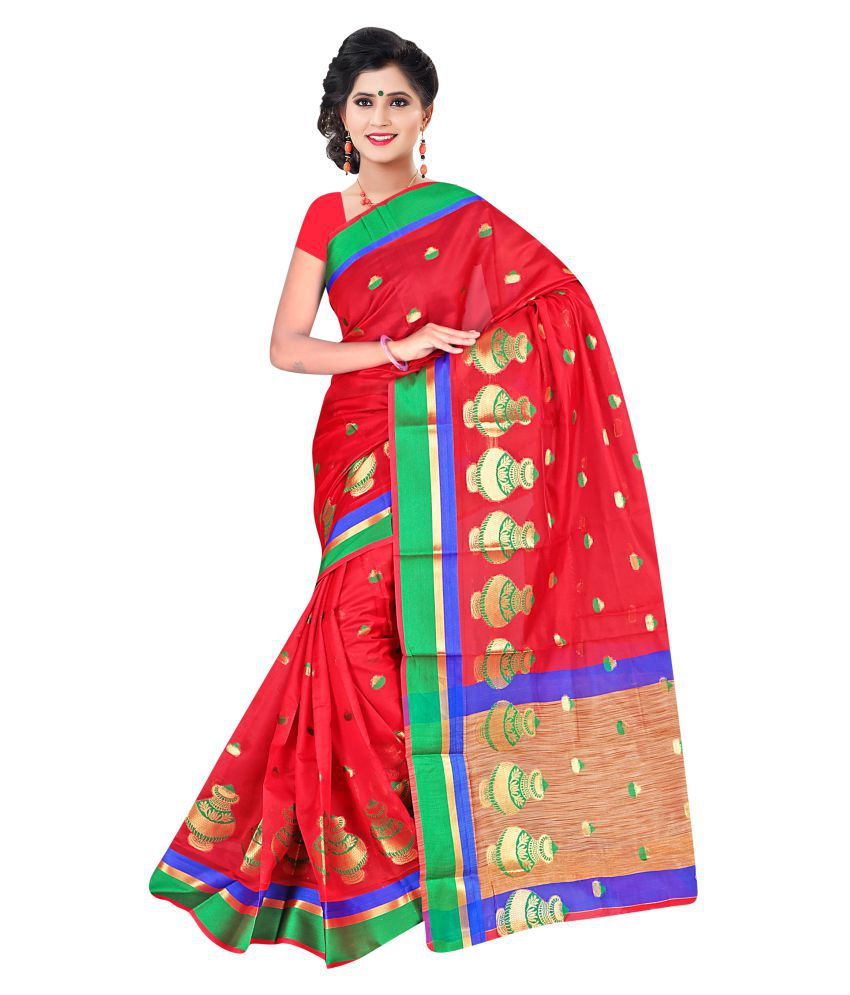 Richa Sarees Red Jacquard Saree