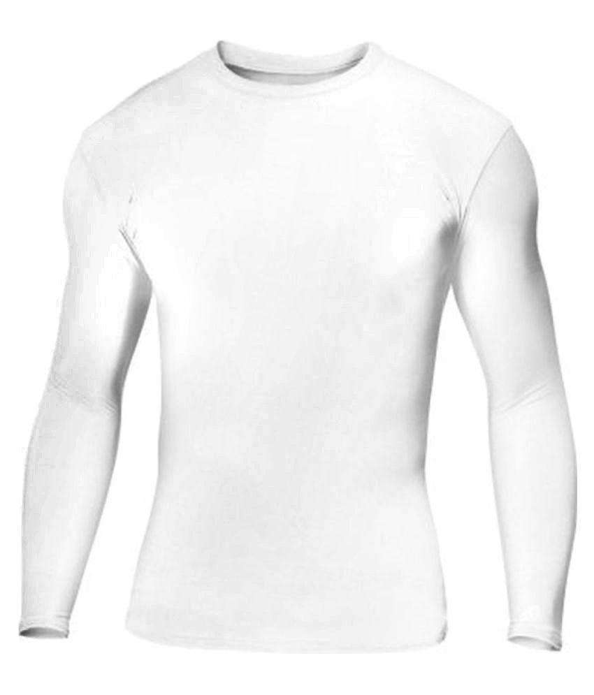 Lycot White Full Sleeve  Swimwear