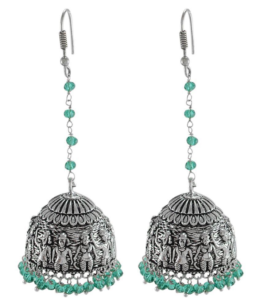 Silvesto India Silver Alloy Jhumki