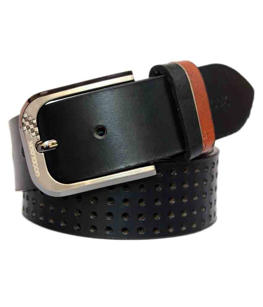 Winsome Deal Black Leather Casual Belts