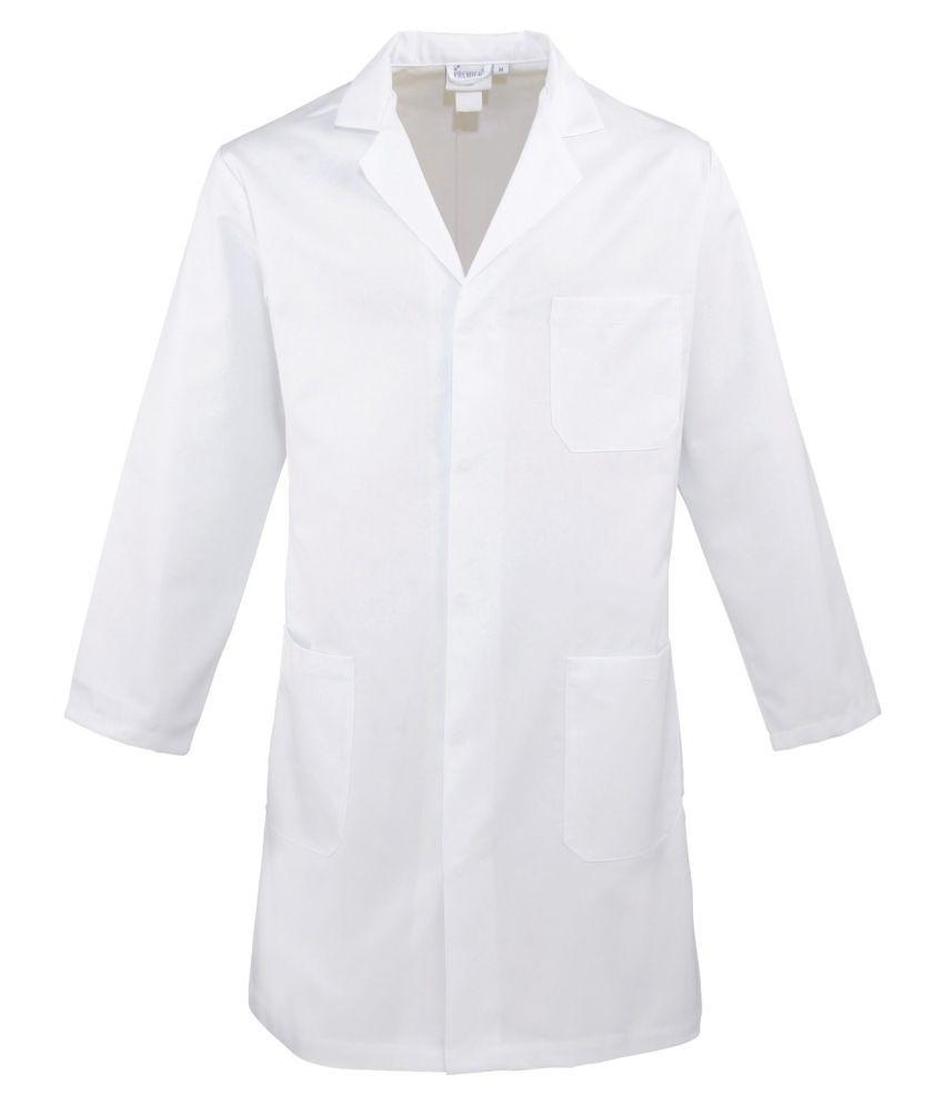 White apron for lab - Raahi White Full Sleeves Doctor Lab Coat Apron Staff Lab Coat L