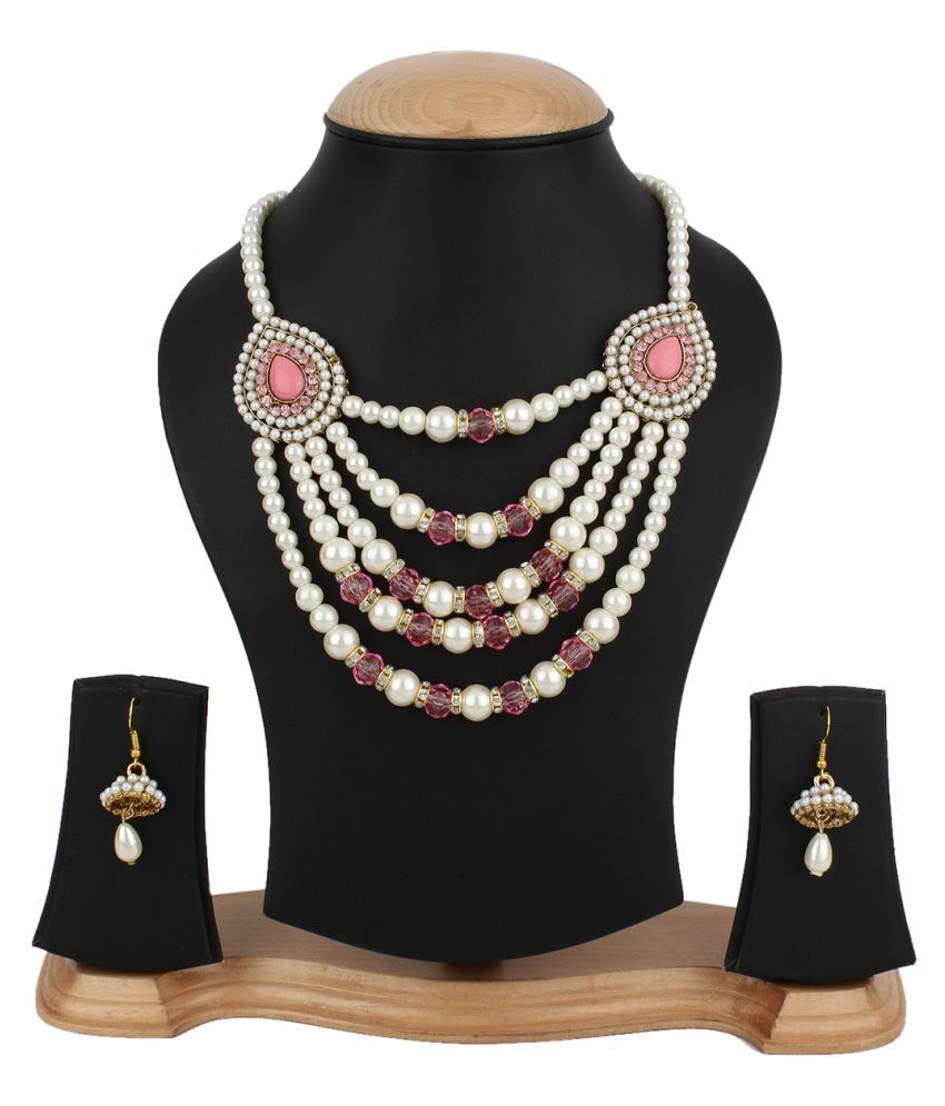 Jewels Gold Multicolor Necklace Set