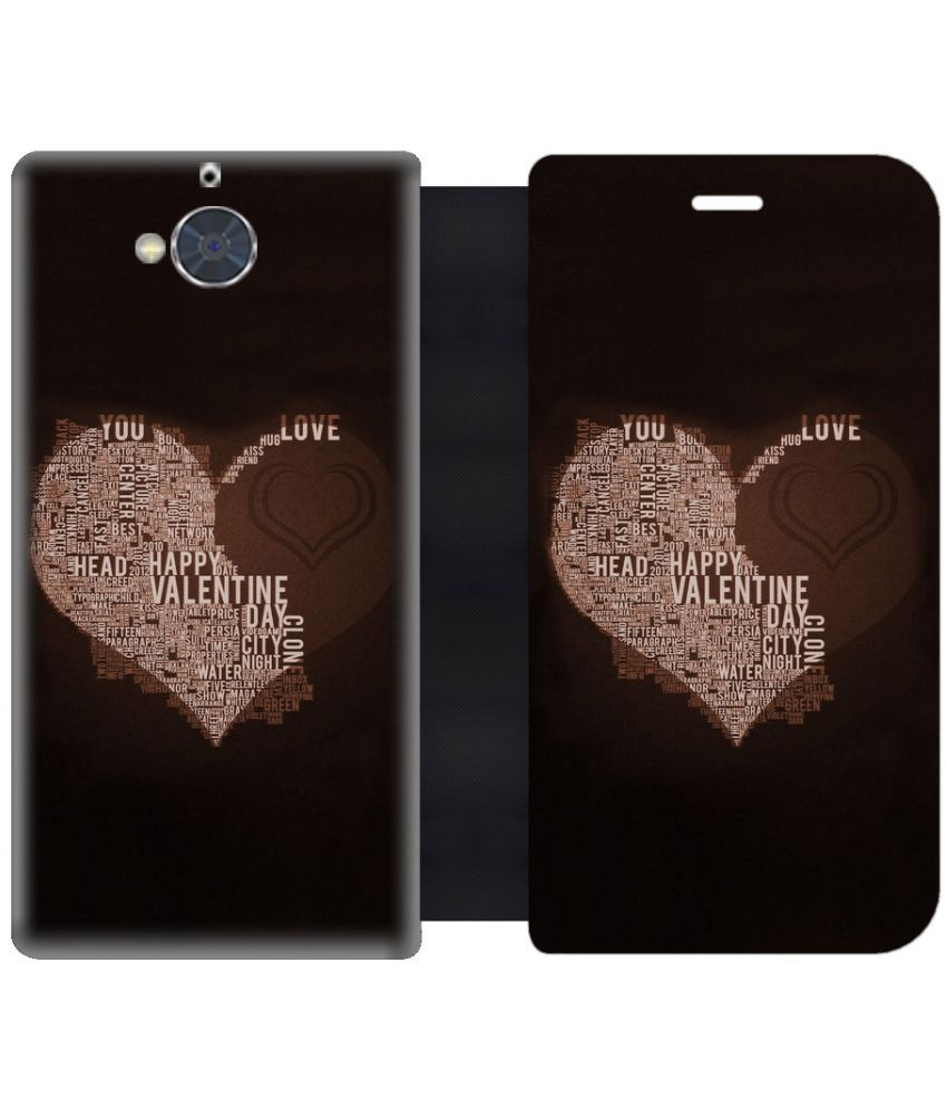 Gionee S6 Pro Flip Cover by Skintice - Black