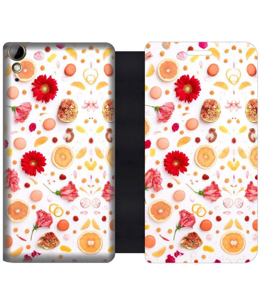 HTC Desire 10 Lifestyle Flip Cover by Skintice - Yellow