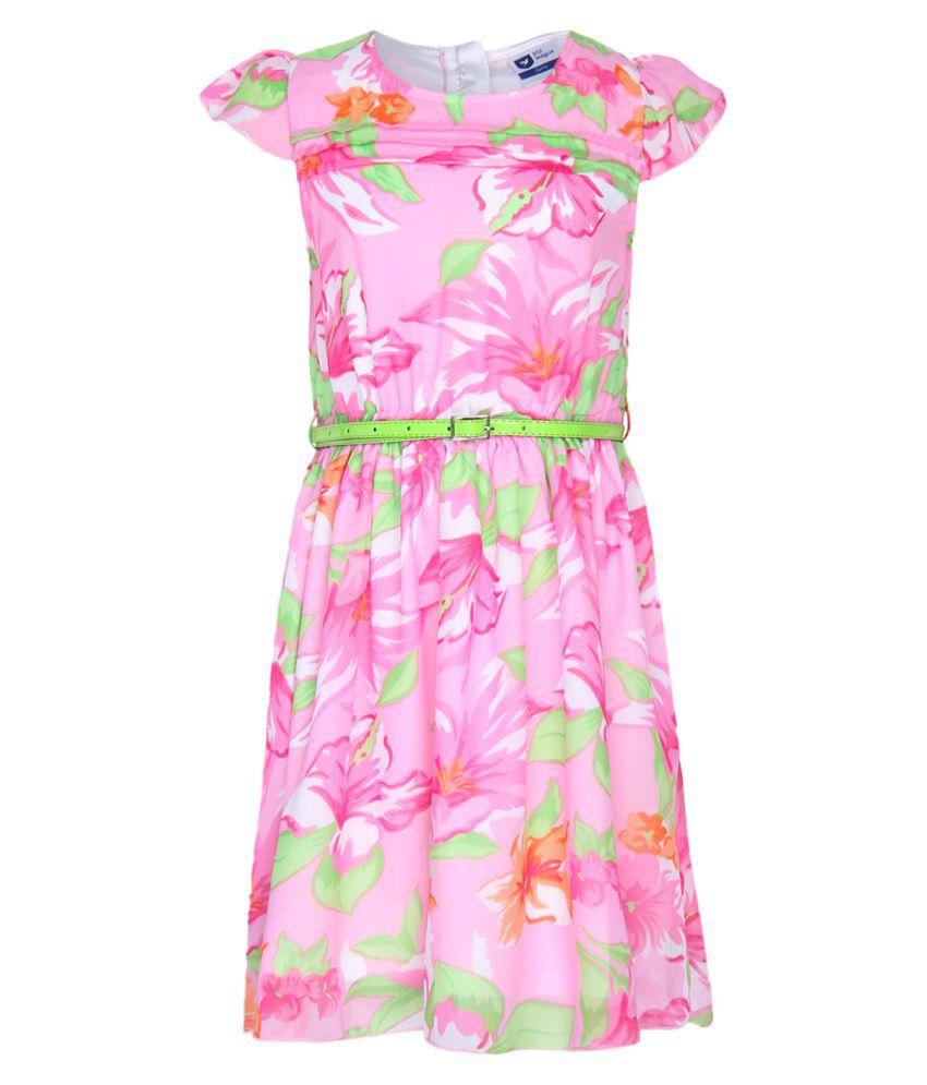 612 League Pink Skater Dress