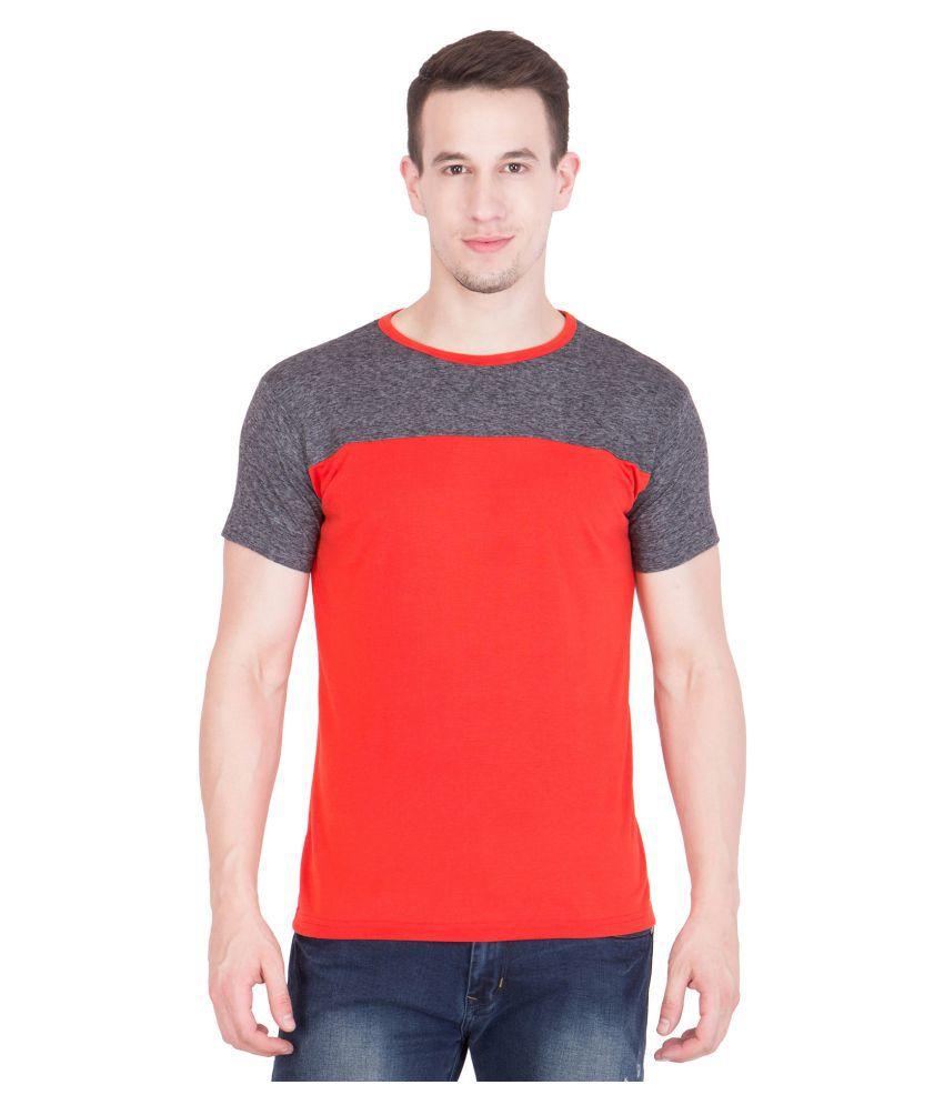 American-Elm Orange Round T-Shirt