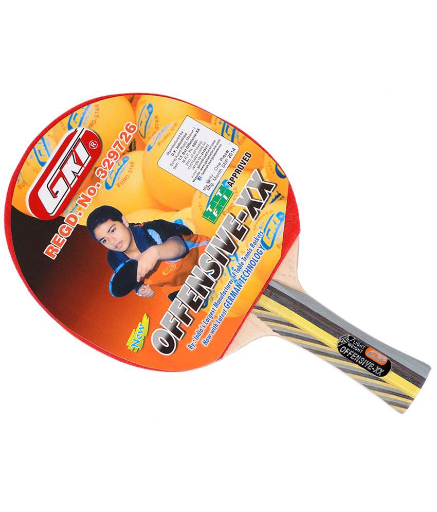gki offensive xx table tennis racket buy online at best price on rh snapdeal com