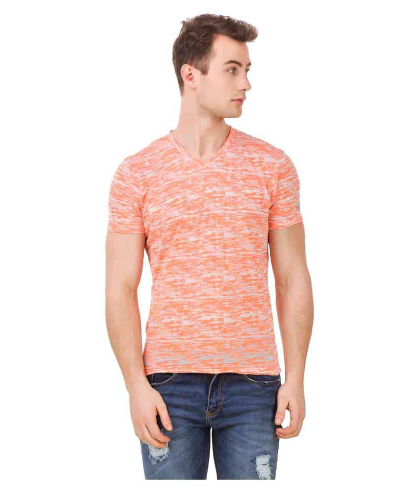 Spunk Orange V-Neck T-Shirt
