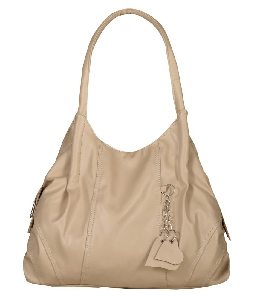 Fostelo Cream P.U. Shoulder Bag