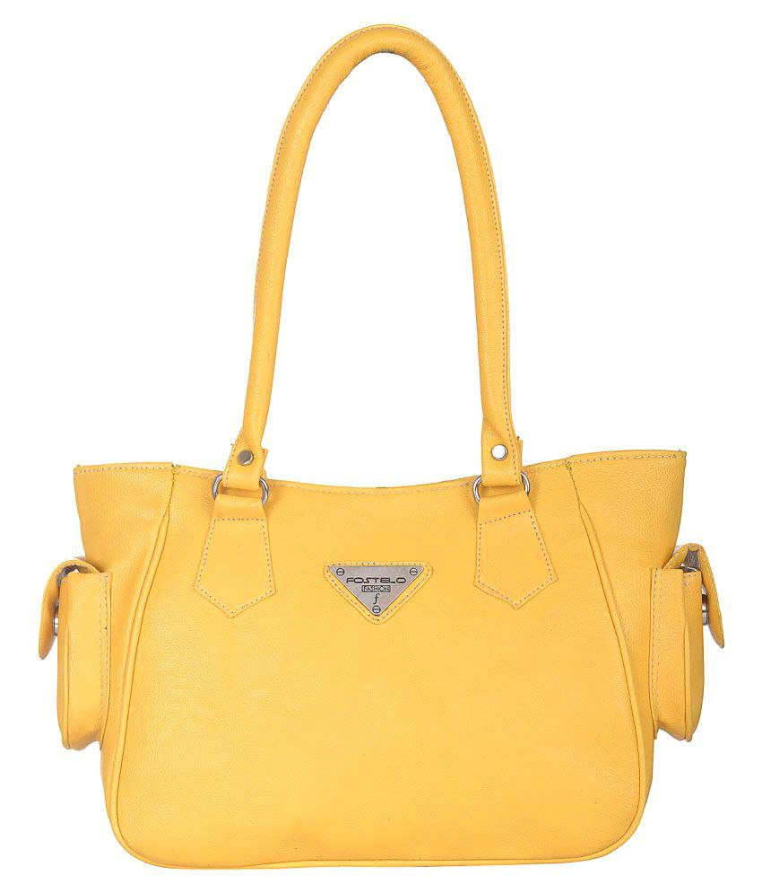 Fostelo Yellow P.U. Shoulder Bag