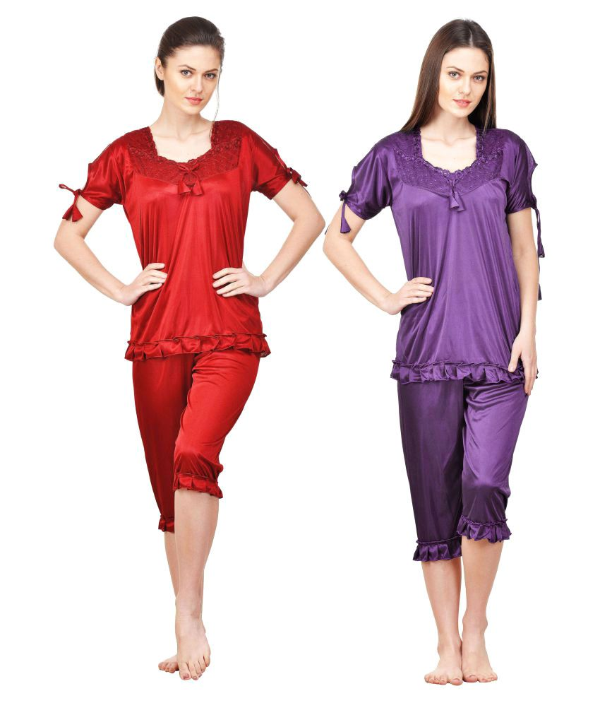 Boosah Satin Nightsuit Sets