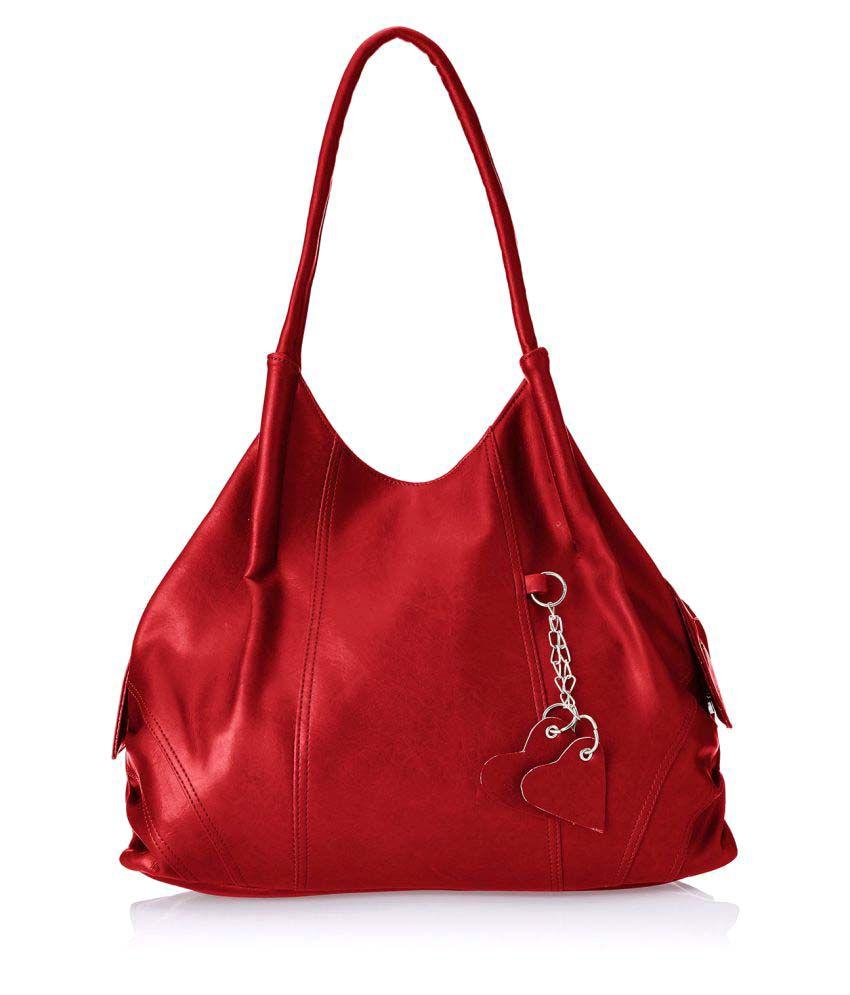 Fostelo Red P.U. Shoulder Bag