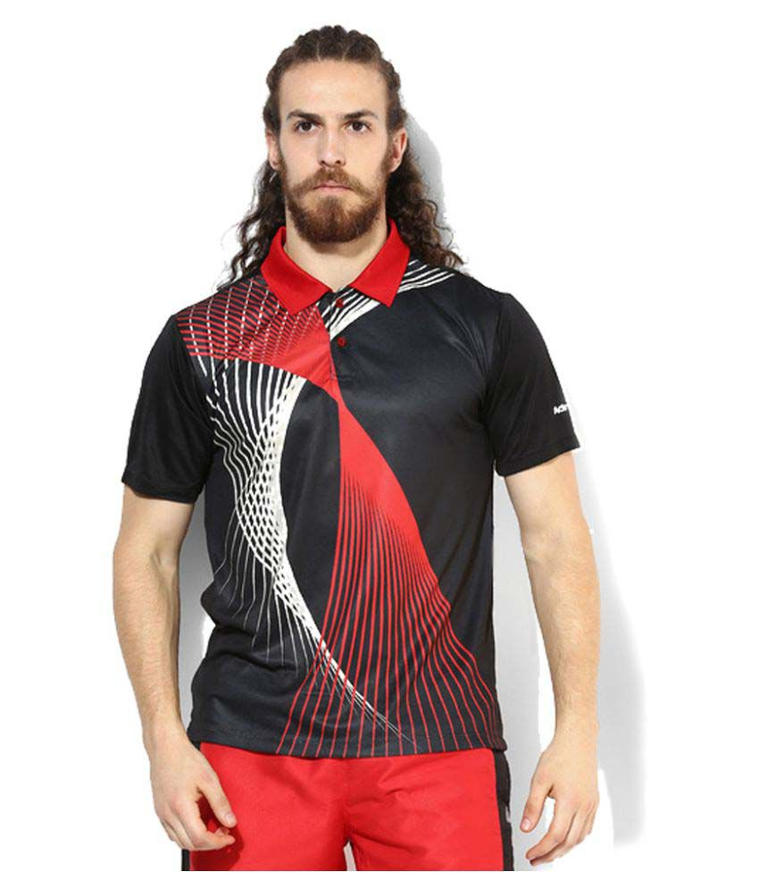 Admiral Black Polyester Polo T-Shirt