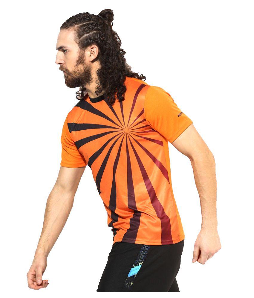 Admiral Orange Polyester T-Shirt